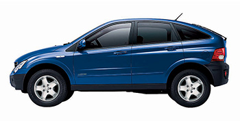 Rent a SsangYong Actyon 4x4  2300cc  car in Crete